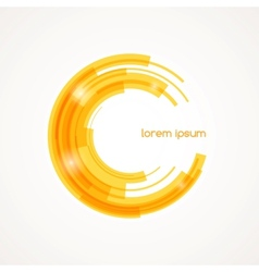 Abstract round element vector