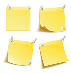 blank notes pinned on corkboard vector image vector image