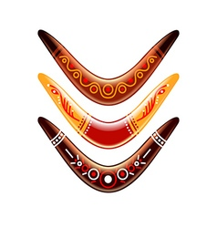 Boomerang isolated on white vector image