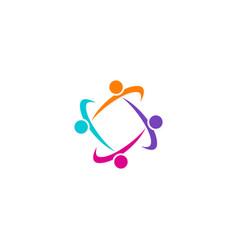 circle people group logo vector image vector image