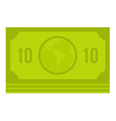green money banknote icon isolated vector image vector image