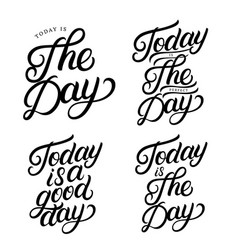 set of hand written lettering quotes vector image
