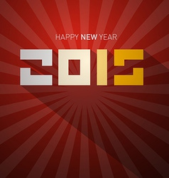 2015 Retro Happy New Year Card vector image