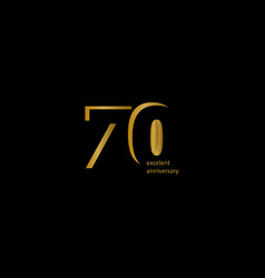 70 years excellent anniversary template design vector