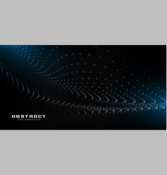Abstract black background with particles and blue vector
