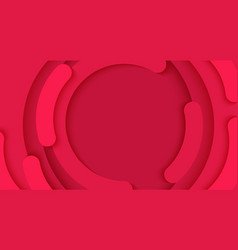 abstract circle a red background template vector image