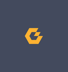 Abstract letter g l logo design template creative vector