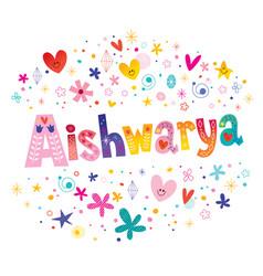 Aishwarya girls name vector