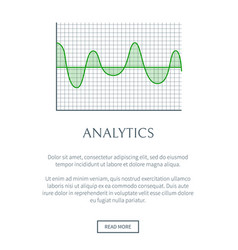 analytics digraph image color vector image
