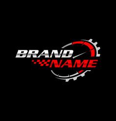 Auto service logo template vector