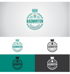 Badminton sports logo vector