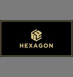 be hexagon logo vector image