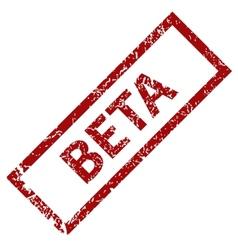 Beta grunge rubber stamp vector