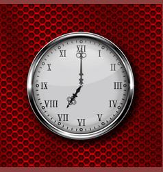 black round clock with roman numerals vector image