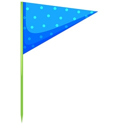 Blue triangle flag on the stick vector
