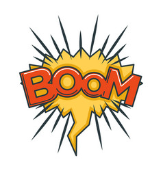 boom sound visualization in speech bubble in shape vector image