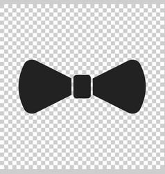 bow tie flat icon necktie vector image