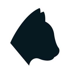 Cat shape icon vector