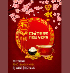 Chinese new year party invitation card vector