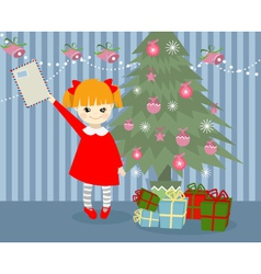 Christmas child vector