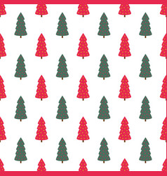 christmas seamless pattern with a tree vector image