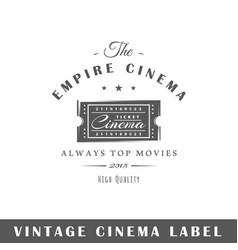 cinema label vector image