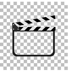 Clapper board icon with a white background vector