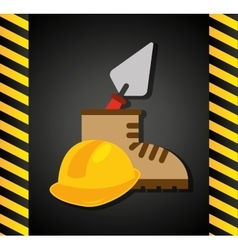 Construction tools equipment icon vector