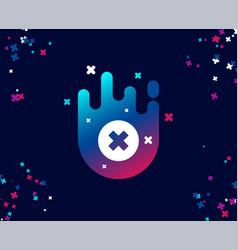 delete simple icon remove sign vector image