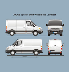 Dodge sprinter swb low roof cargo van vector