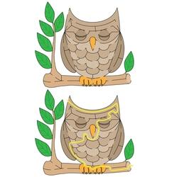 Easy owl maze vector