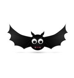 Flying bat isolated on white background vector