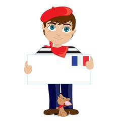 French Boy Sign vector image