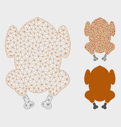 Fried chicken mesh network model and vector