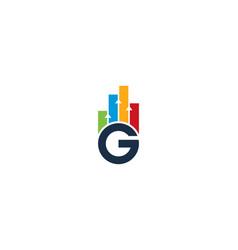 Graph letter g logo icon design vector