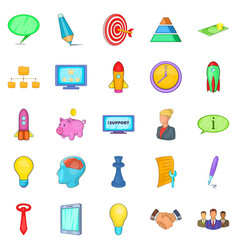 Group icons set cartoon style vector