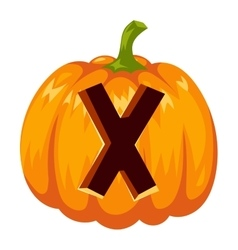 Halloween font alphabet vector image