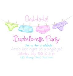 Hand drawn bachelorette party invitation card vector