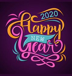 Happy new year 2020 greeting card or background vector