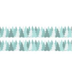 Horizontal seamless border with christmas green vector