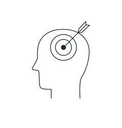 human mind iconpurpose concept thin line style vector image