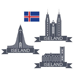 Iceland vector image