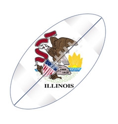 Illinois state usa football flag vector