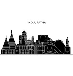 india patna architecture urban skyline with vector image