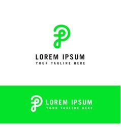 Initial letter logo p monogram concept template p vector