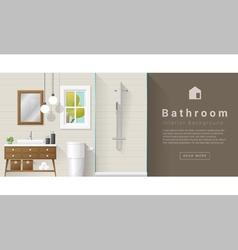 Interior design Modern bathroom background 7 vector image