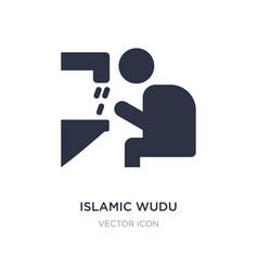 Islamic wudu icon on white background simple vector