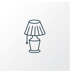 lamp icon line symbol premium quality isolated vector image