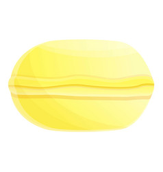 lemon macaroon icon cartoon style vector image