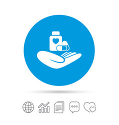 Medical insurance sign health insurance vector